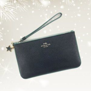 NEW🌸COACH Large Wristlet With Star Charm